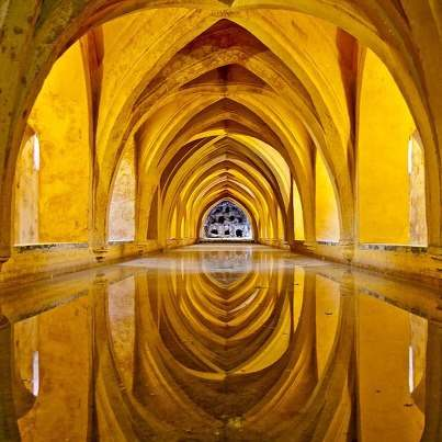 Baths of Dona Maria de Padilla, The Royal Alcazar palace - Sevilla