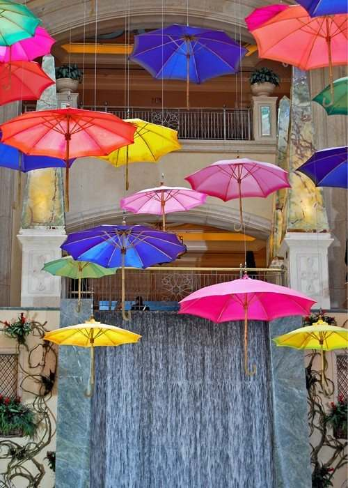 Falling Rainbow Umbrellas Las Vegas