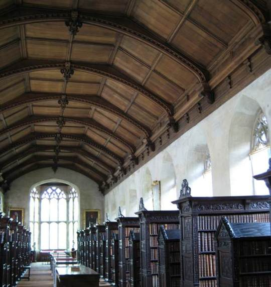 Old Library, St. John's College, Cambridge University, Cambridge, UK