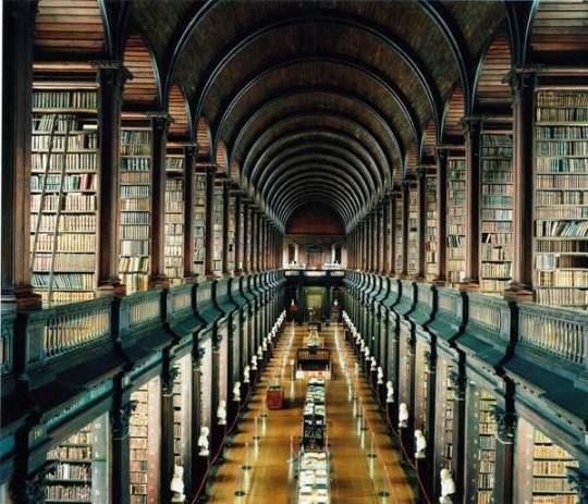 "The Trinity College Library, aka ""The Long Room,"" Dublin, Ireland"