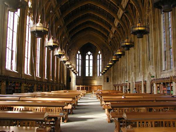 Suzzallo Library's Graduate Reading Room at the University of Washington, Seattle
