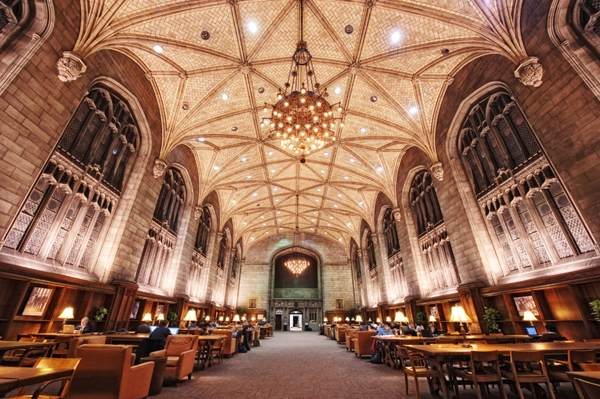 The Harper Library Reading Room, University of Chicago, Chicago,