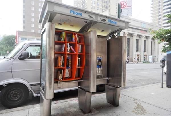 NYC pay phone booth, created by architect John Locke