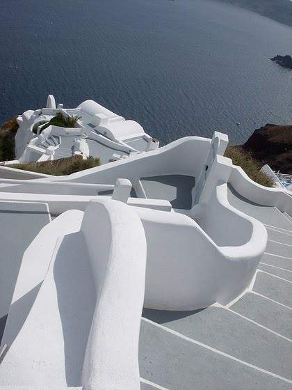 Stairs to the Sea, Cyclades, Greece