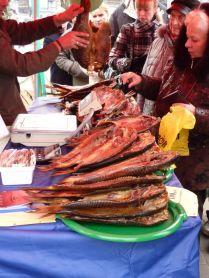 Smoked fish.